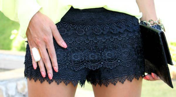 Super Vaidosa » Blog Archive » Look do Dia: Lace Shorts