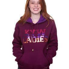 Moletom KYW Ladies Fechado Lantejoulas  Roxo | KYW Virtual