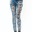 High-Waisted-Destroyed-Jeans BLUE - GoJane.com