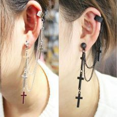 Vintage Cross Tassel Single Earrings&Ear Clip just $9.99 in ByGoods.com