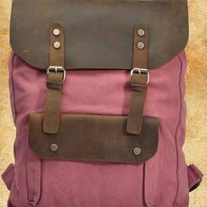 Rose Red Vintage/retro Backpack Gen..
