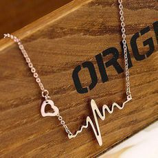 [grxjy5100184]Personalized ECG necklace
