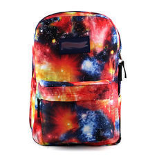 [grxjy520261]Mixed Color Universe Starry Sky Print Canvas Book Bag Backpack