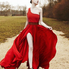 Taobao agent - Most European and American retro daughter oblique elegant red satin dress the bride toast clothing - 80.27, Free fee from China Ebay