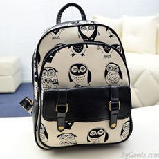 Mini Leisure Cartoon Owl College Backpack just $25 in ByGoods.com