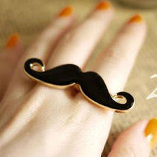 Anel Mustache - Cute and Girly