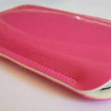 iPhone cell phone case iPod PINK RED ORANGE Lack by CUCCIBELLE