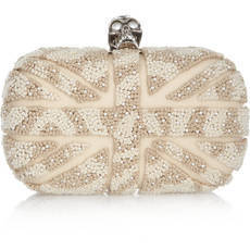 Alexander McQueen | Britannia Skull embroidered box clutch