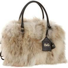 D&G Dolce & Gabbana Three-Zip Lily Twist Satchel
