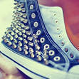 Studded Converse All Star high dunk by JuliLand on Etsy